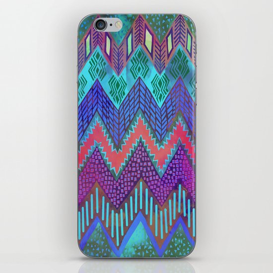 Tribal Chevron - Aqua iPhone & iPod Skin