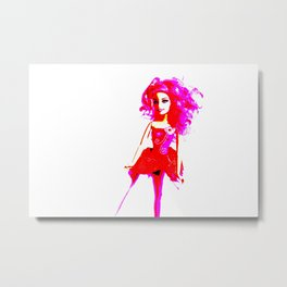 Bright Young Woman Metal Print