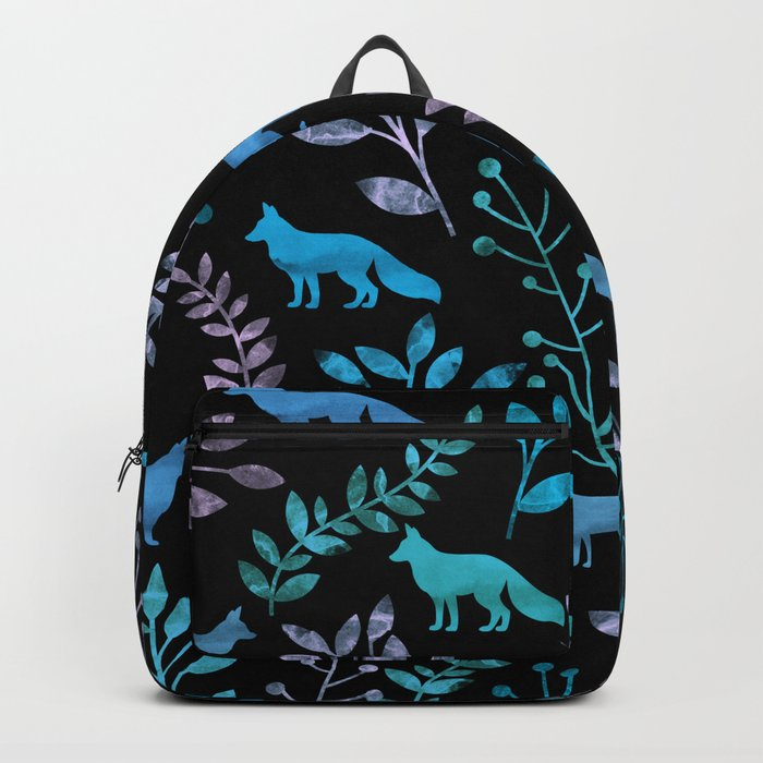 Watercolor Floral & Fox IV Backpack