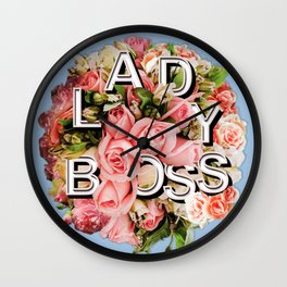 Lady Boss Floral Bouquet Wall Clock