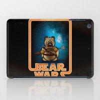 tomb raider iPad Cases featuring Bear Wars - Raider by Gingerbear Todd