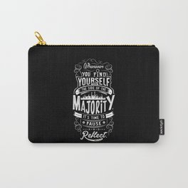 Lab No. 4 Whenever You Find Yourself Mark Twain Quotes Carry-All Pouch