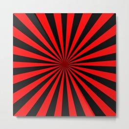 Starburst (Black & Red Pattern) Metal Print