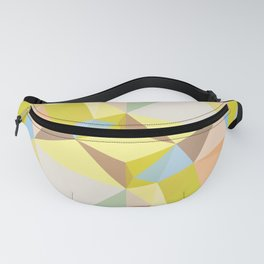 Pastel Earth Tone Triangle Pattern Fanny Pack