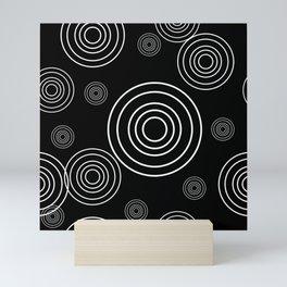 Circles within Circle  1 - Black Mini Art Print