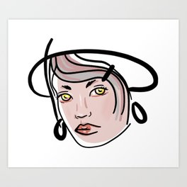 Abstract Female Fashion Portrait Art Print