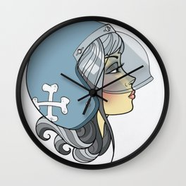 Moto Girl Wall Clock