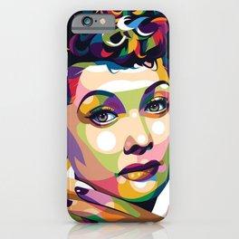 Lucille print cavans vector iPhone Case