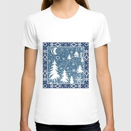 New year's design. Lace fabric . T-shirt