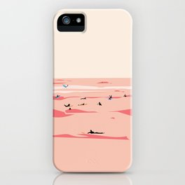 Sunset Tiny Surfers in Lima Illustrated iPhone Case