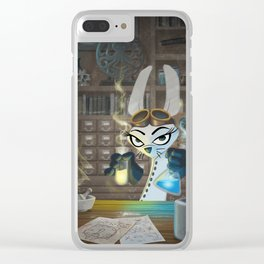 The Lair of the Dark Bunny Clear iPhone Case