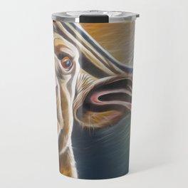 Alarmed Buffalo Travel Mug
