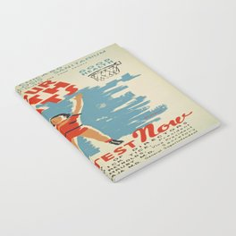 Vintage poster - Make Your Health Points Notebook