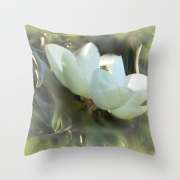 Magnolia Kiss Throw Pillow