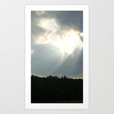 Heart In The Sky Art Print