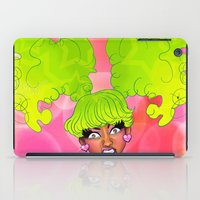 nicki iPad Cases featuring Pink Face by KeishaC