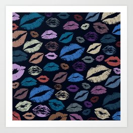 Lips 20 Art Print