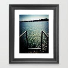 climb in Framed Art Print