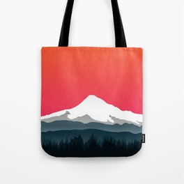 Mount Hood Winter Forest - Sunset Tote Bag