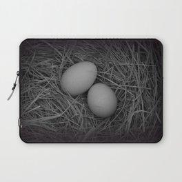 B&W Eggs Laptop Sleeve