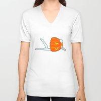pumpkin V-neck T-shirts featuring Pumpkin by Nadina Embrey - Artist / Illustrator