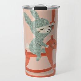 Rabbit Knight Travel Mug