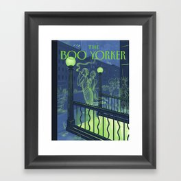 The Boo Yorker: A Night Out Framed Art Print