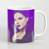 regina mills Mugs featuring Evil Regal, Regina Mills by Your Friend Elle