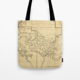 Vintage Map of The Grand Canyon (1908) Tote Bag