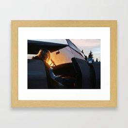 Sunrise through trees - 2016 Framed Art Print
