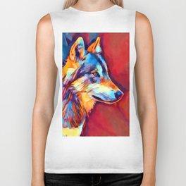 Wolf Portrait 2 Biker Tank