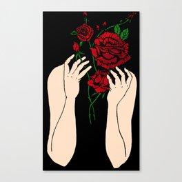 Heather's Flowers Canvas Print