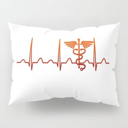 Nurse Practitioner Heartbeat Pillow Sham