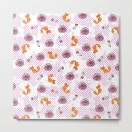 Flowering Fox, Fox, Flowers, Flower Art, Fox Art Metal Print