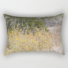 Close Up of Wild Desert Sunflowers Coachella Valley Wildlife Preserve Rectangular Pillow