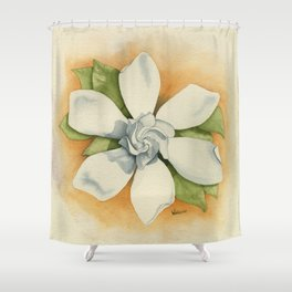 Graceful Symmetry–Watercolor Shower Curtain