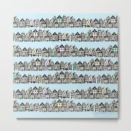 amsterdam canal houses - project  Metal Print
