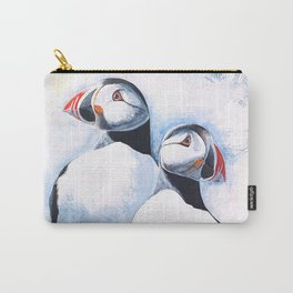 Puffins - I watch over you, little brother - by LiliFlore Carry-All Pouch