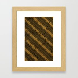 Vintage Fossil Bacon Framed Art Print