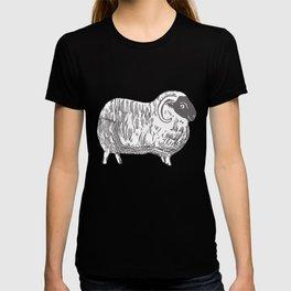 Sheep Printmaking Art T-shirt