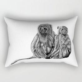 Hamadryas baboon monkeys Rectangular Pillow
