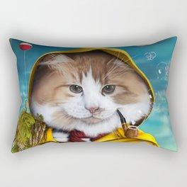 Le pêcheur/The fisherman Rectangular Pillow