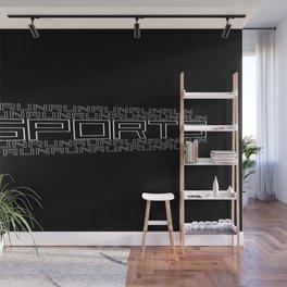 Run for relaxation, pleasure, health... black Wall Mural