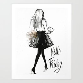Hello Friday Art Print