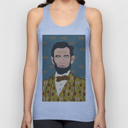 Abe Lincoln Unisex Tank Top