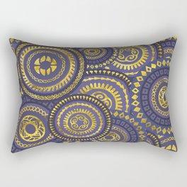Circular Ethnic  pattern pastel gold and purple Rectangular Pillow