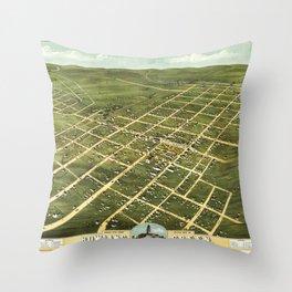Bird's Eye View of Bowling Green, Kentucky (1871) Throw Pillow