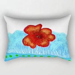 Coquelicot de jour bis Rectangular Pillow