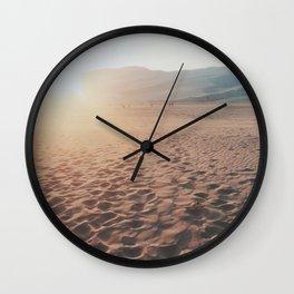 Footprints In The Desert Wall Clock