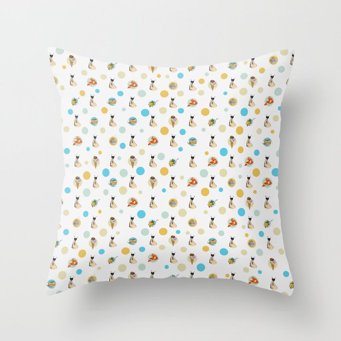 Italian Food Collection Throw Pillow